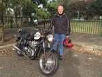 John B and his '06 Triumph Bonneville 865cc