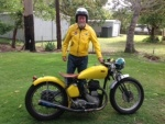 Ray W and his '42 BSA WM20 500cc (the flying banana!)