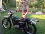 Ray W and his '74 Yamaha DT 360A