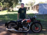 Ray W and his '38 Ariel Red Hunter 500 twin port
